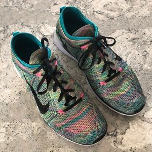 88d4c8d4f5b Nike Shoes - Nike Free TR Flyknit 5.0 multicolor sneakers 9.5